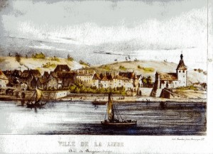 Paintin of Lalinde, circa 1820